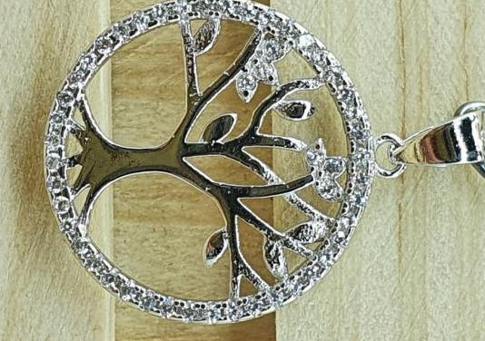 Colgante árbol de la vida con zirconitas