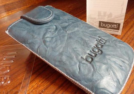 Funda de móvil piel genuina marca bugatti