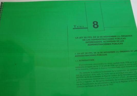Ley 30/1992, 26 noviembre y personal