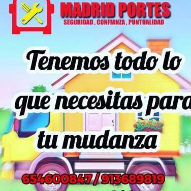 Madrid portes) alcala mudanzas y portes