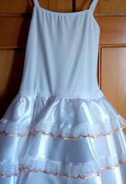 Traje de baile blanco niña