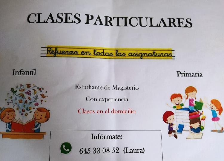 Clases particulares infantil, primaria y eso