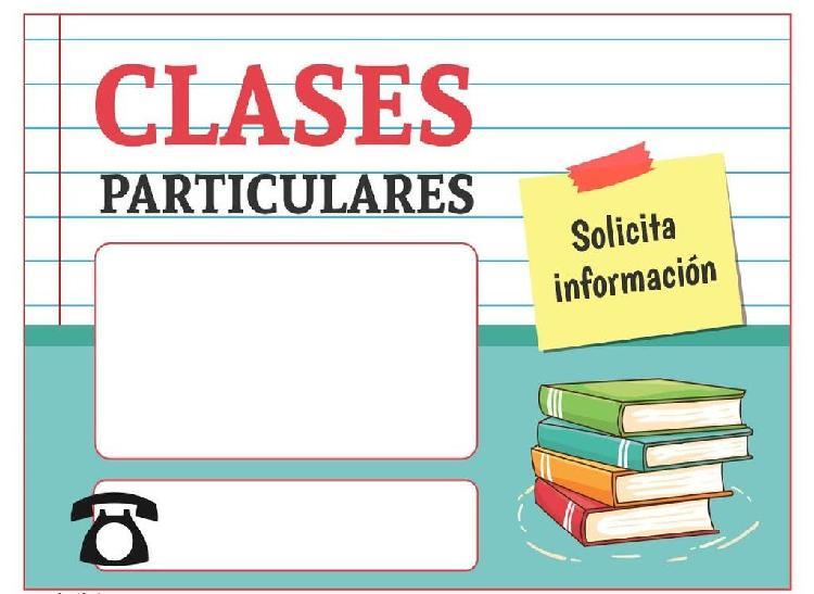 Clases particulares (primaria, eso y bachillerato)