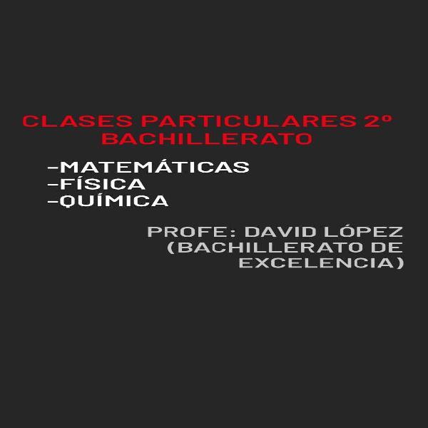 Clases particulares (matemáticas, física, química)