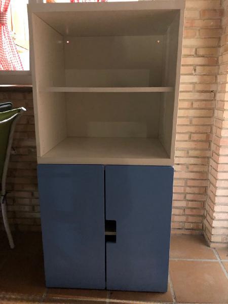 Combinación de armario y estantería ikea