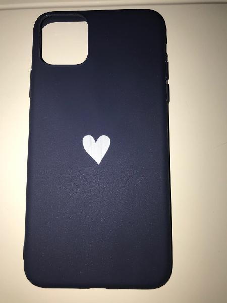 Funda iphone 11 pro max nueva azul silicona