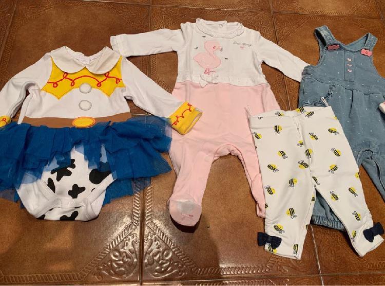 Lote 5 prendas bebe niña