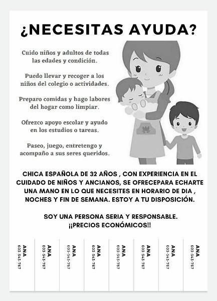 Niñera/cuidadora de niños y mayores