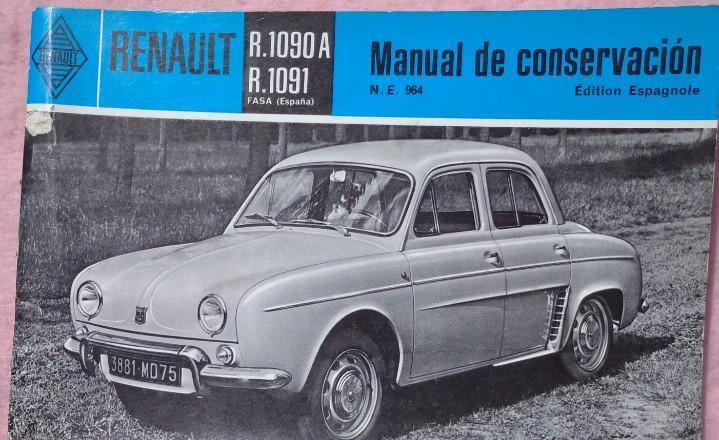 Renault r.1090 a r.1091, manual de conservación, años