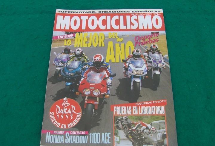 Revista motociclismo. nº 1402. 3-9 enero 1995. honda shadow