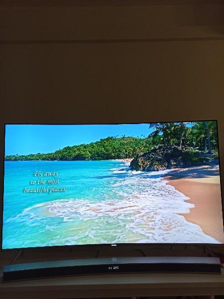 Tv samsung 4k 55'curva+ barra sonido samsung 300w