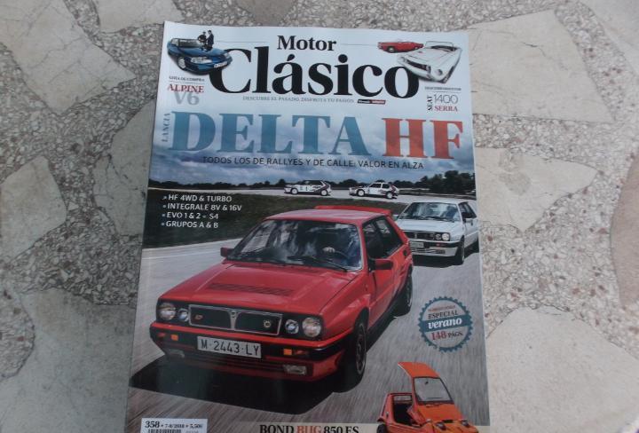 Motor clasico nº 358, bond bug 850es,lancia delta hf, seat