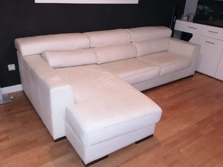 Sofá cheslong blanco
