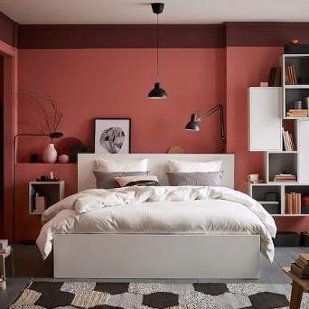 Cama doble con somier y colchón