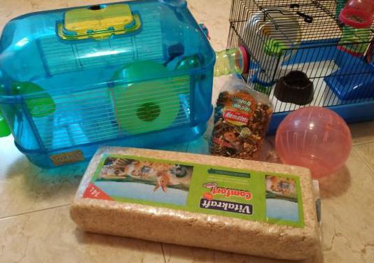 Dos jaula para hamsters