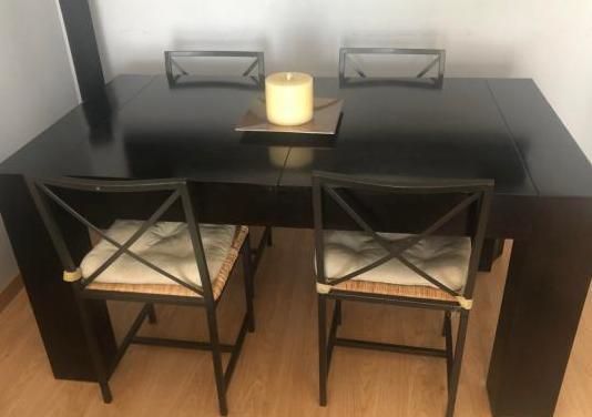 Mesa comedor madera maciza color bengel