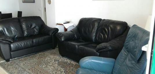Sofás y sillón piel