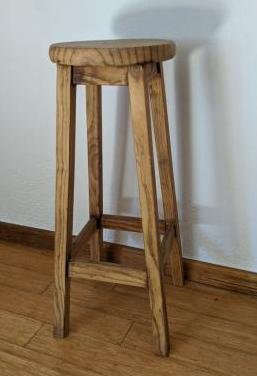 Taburete alto de madera maciza 4 u
