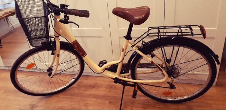 Bicicleta sirvan life crema y marron