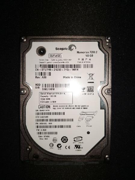 Disco duro sata 2.5 - seagate 160gb