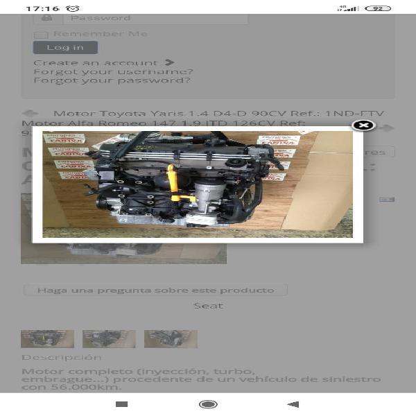 Motor seat ibiza, córdoba 1.9 tdi 100cv ref.: axr motor