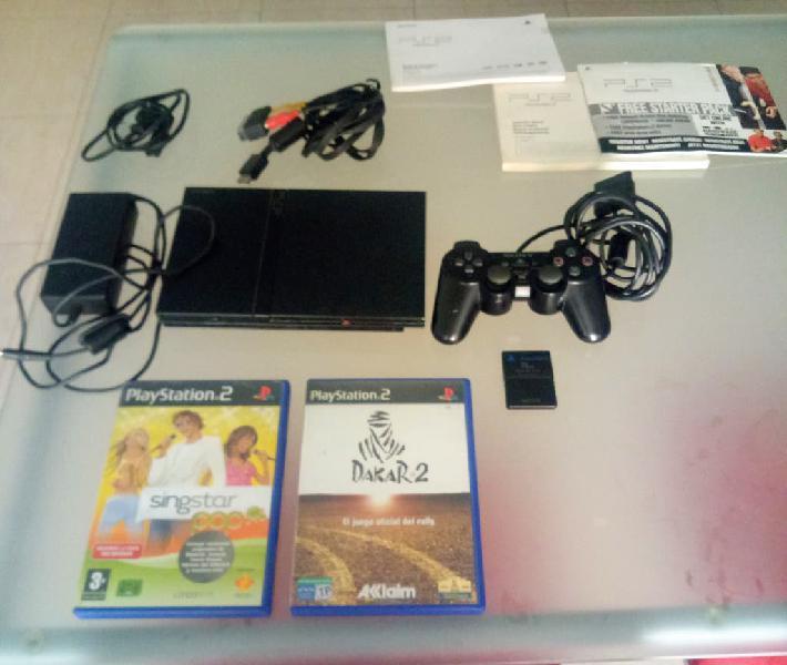 Playstation 2 o ps2 con mando y dos juegos
