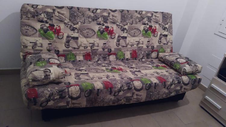 Sofá cama click con almacenaje