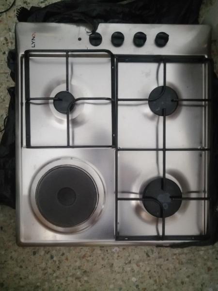 Placa de gas de 3 butano y 1 eléctrica