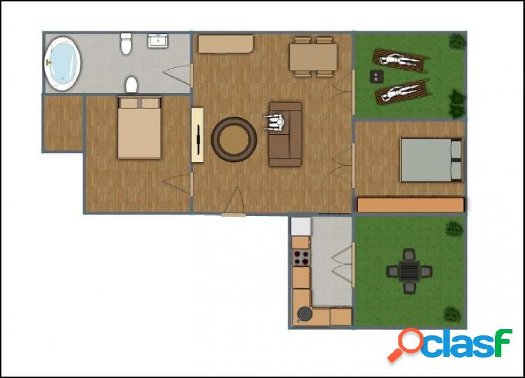 Ático, carabanchel alto, con dos dormitorios y dos terrazas