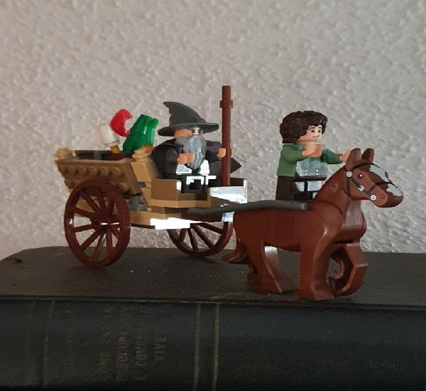 Gandalf y su carromato. frodo y pony incluidos