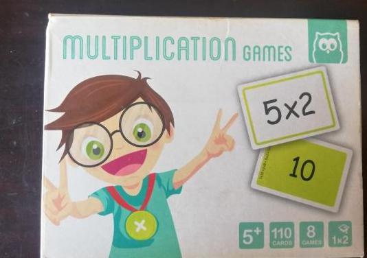 Juego cartas multiplicación eureka kids