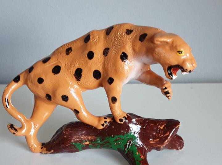 Leopardo, reisler (dinamarca), zoo, granja, años 60