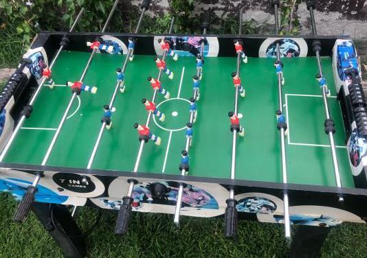 Mesa futbolín billar multijuegos