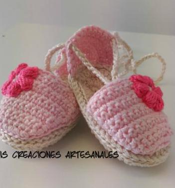 Originales alp20argatas hechas a mano en crochet