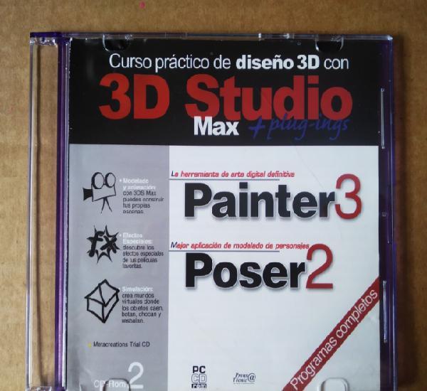 Pc cd-rom 3d studio max + plug-ings: curso práctico de