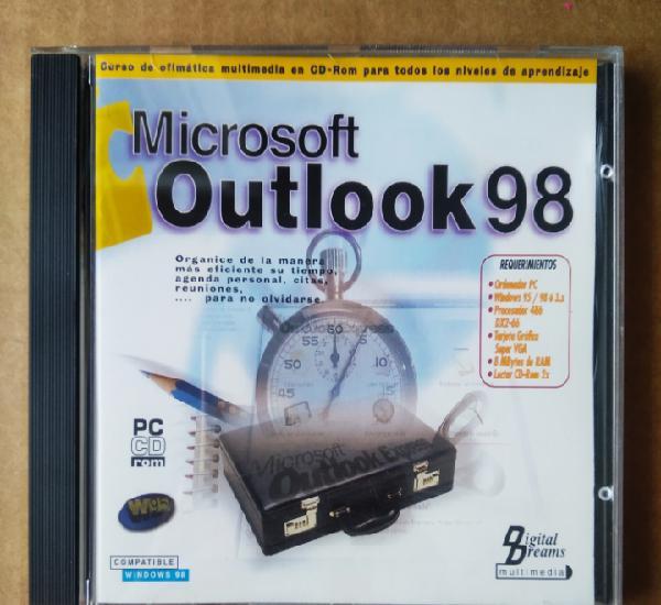 Pc cd-rom microsoft outlook 98. curso de ofimática