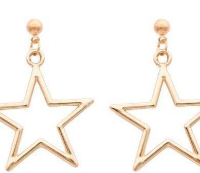 Pendientes de estrella dorados nuevos