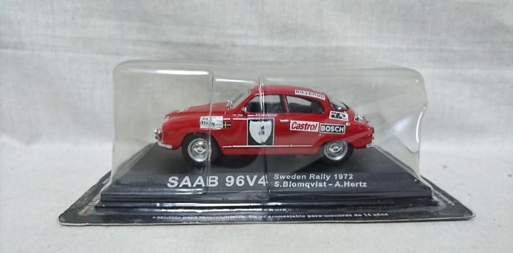 Saab 96v4, sweden rally 1972, escala 1:43