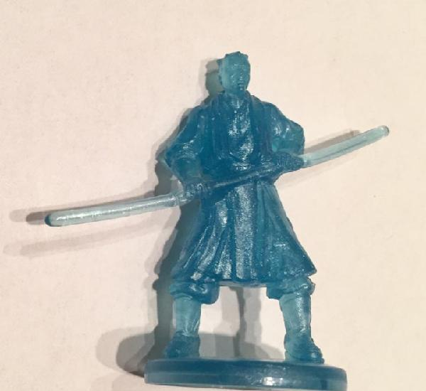 Star wars - darth maul figura azul traslúcida transparente