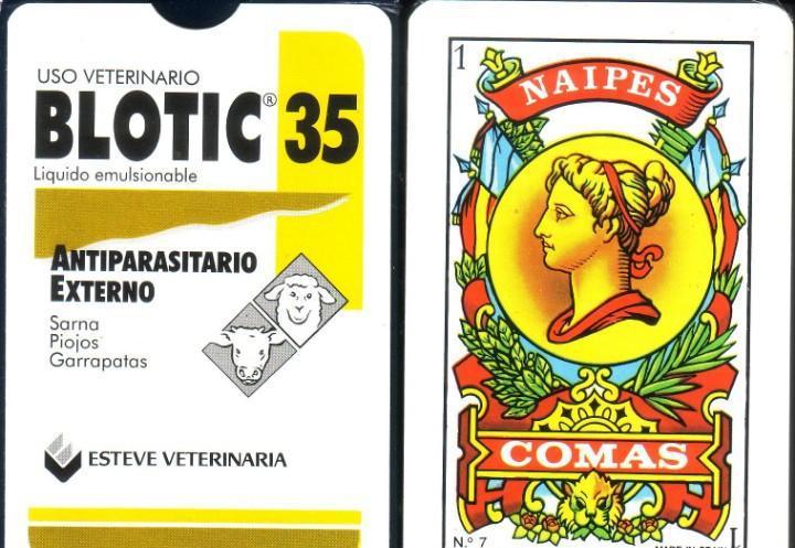 Uso veterinario blotic 35- baraja española de 50 cartas