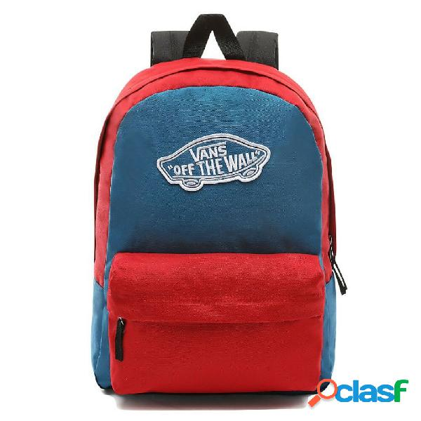 Mochila vans red and blue