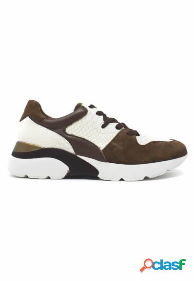 Patricia miller - sneakers taupe combinadas piso ancho
