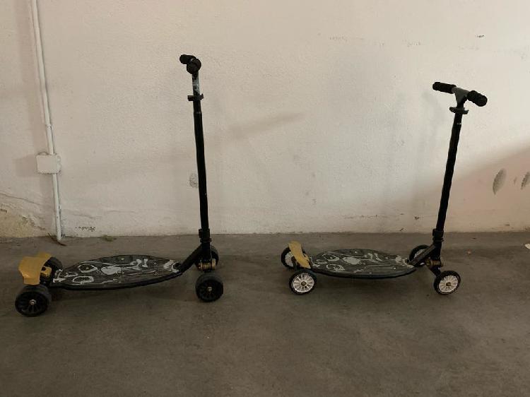 2 patinetes 4 ruedas decathlon oxelo stunstreet