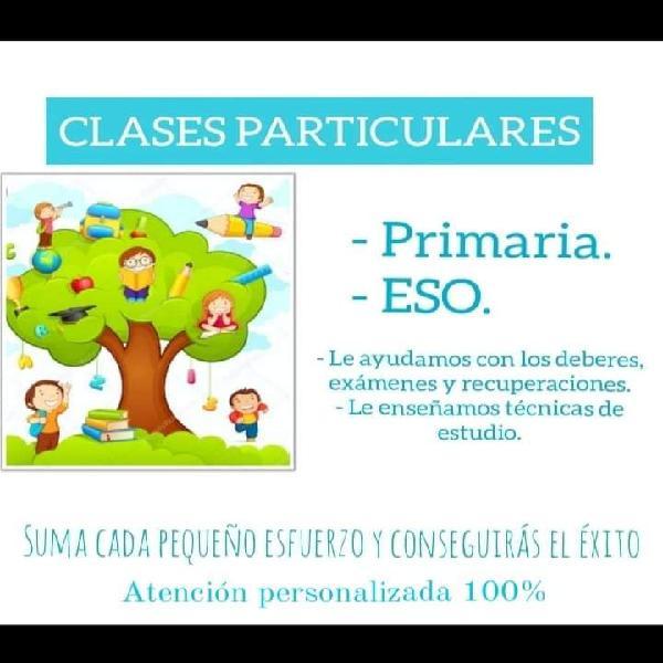 Clases particulares infantil primaria y eso