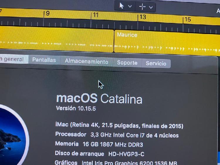 Imac 16,2 (21,5) 4k intel i7 16 gb ram 1 tb fusion