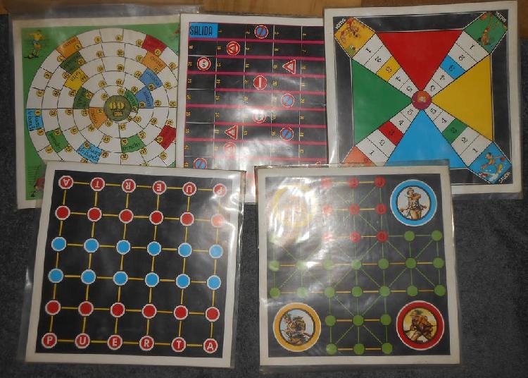 Juegos de mesa antiguos de quiosco.
