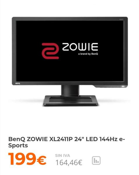 "Monitor pantalla led 24"" benq zowie 144hz garantia"