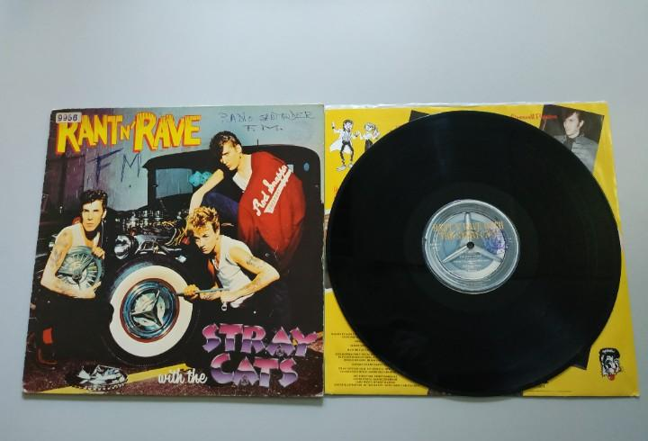 0920- rant n rave stray with the cats españa lp vin por g +