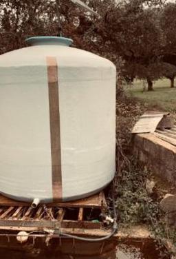 Depósito para riego, capacidad 10.000 litros