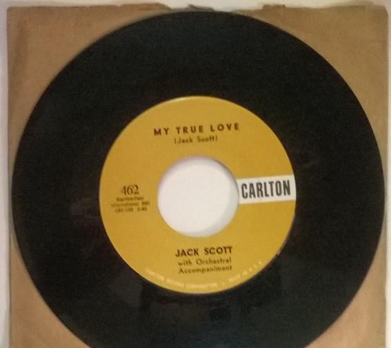 Jack scott. leroy/ my true love. carlton, usa 1958 single